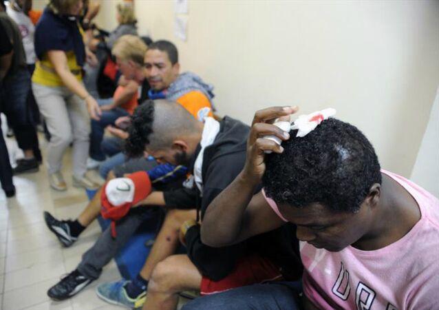 Los manifestantes heridos en Ayuntamiento de Curitiba