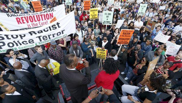 Manifestación de protesta en Washington - Sputnik Mundo