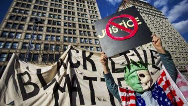 La protesta en Nueva York - Sputnik Mundo