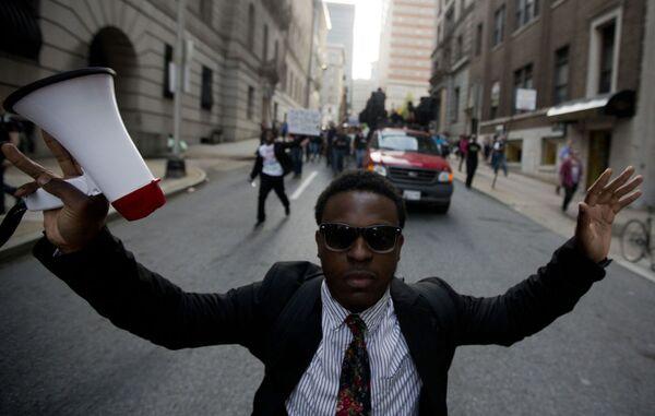 Protestas en EEUU contra violencia policial - Sputnik Mundo