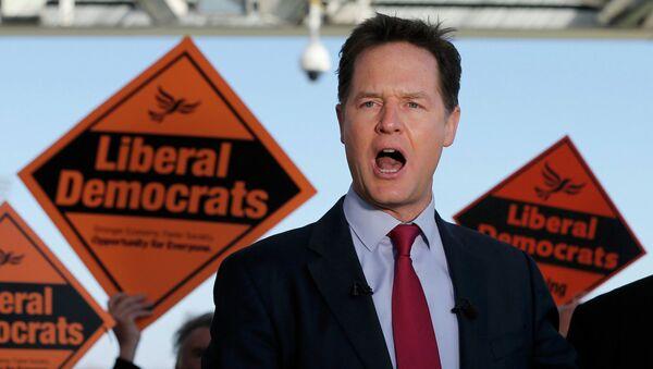 Nick Clegg,  líder del Partido Liberal Demócrata - Sputnik Mundo