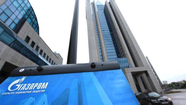 У офиса ОАО Газпром в Москве - Sputnik Mundo
