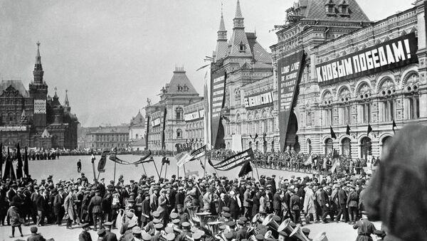Desfile del Primero de Mayo en la Plaza Roja en 1932 - Sputnik Mundo