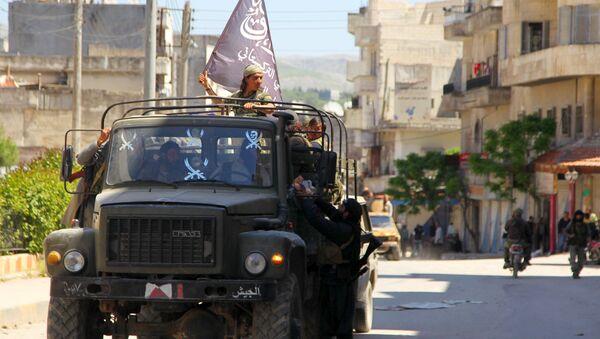 Militantes del grupo terrorista Frente al Nusra (archivo) - Sputnik Mundo