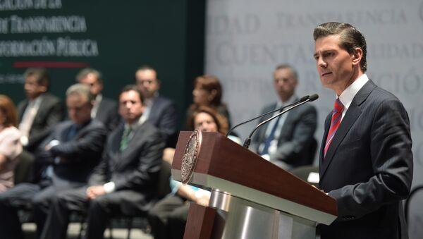 Presidente de México Enrique Peña Nieto promulga la Ley General de Transparencia en México - Sputnik Mundo