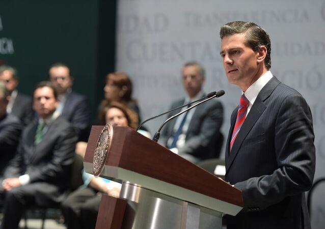 Presidente de México Enrique Peña Nieto promulga la Ley General de Transparencia en México