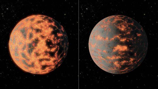 Una representación artística de 55 Cancri e - Sputnik Mundo