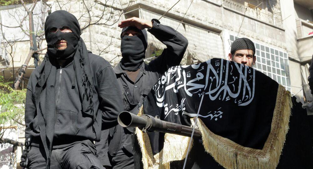Militantes del grupo terrorista Frente Fatah al Sham