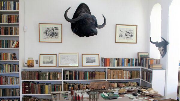 El escritorio del Hemingway en Finca Vigia.  - Sputnik Mundo