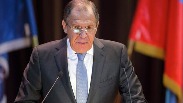 Russian Foreign Minister Sergey Lavrov speaks during his annual address to members of the Moscow International Model UN in the Moscow State Institute of International Relations in Moscow - Sputnik Mundo