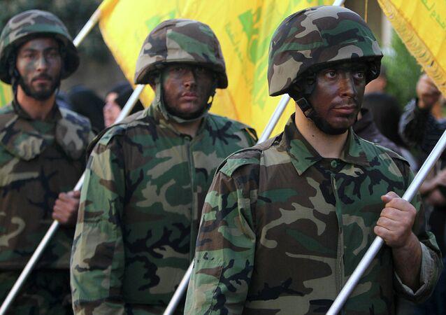 Militantes de Hizbulá (archivo)
