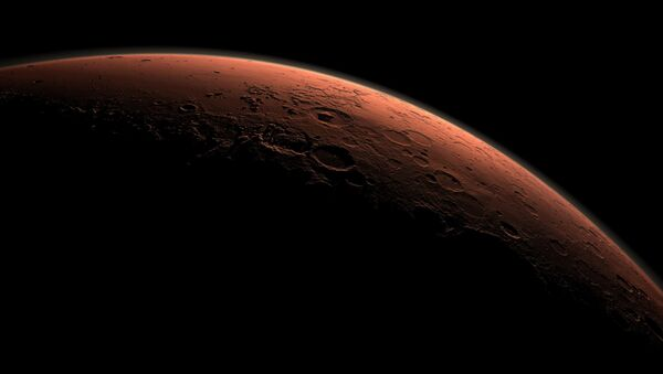 Vista generada por un ordenador que representa un parte de Marte - Sputnik Mundo