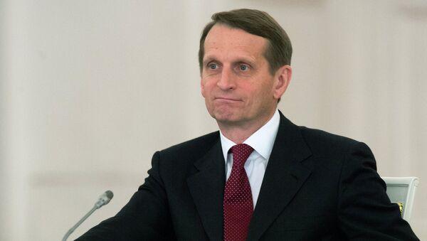 Serguéi Narishkin, jefe de la Duma de Estado de Rusia - Sputnik Mundo