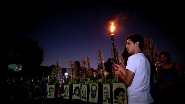 Una manifestación en homenaje al jesuita español Ignacio Ellacuría y otras ocho personas, asesinadas en El Salvador en 1989. - Sputnik Mundo