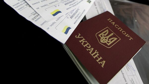 El pasaporte de Ucrania - Sputnik Mundo