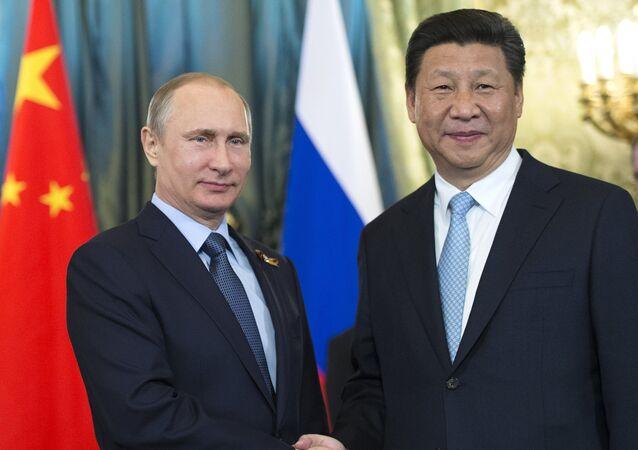 Presidente de Rusia, Vladímir Putin, y presidente de China , Xi Jinping (Archivo)