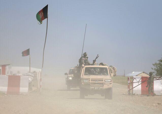 Agentes de seguridad de Afganistán (archivo)