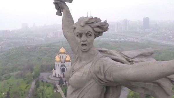 La Estatua de la Madre Patria, a vista de dron - Sputnik Mundo