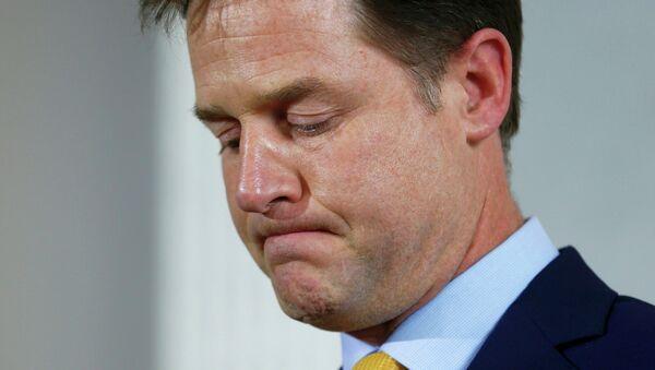 Nick Clegg, líder del partido Liberal-Demócrata - Sputnik Mundo