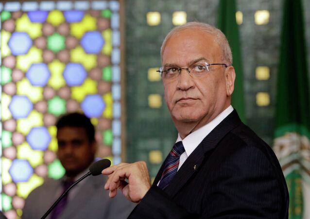 Saeb Erekat, jefe de los negociadores palestinos