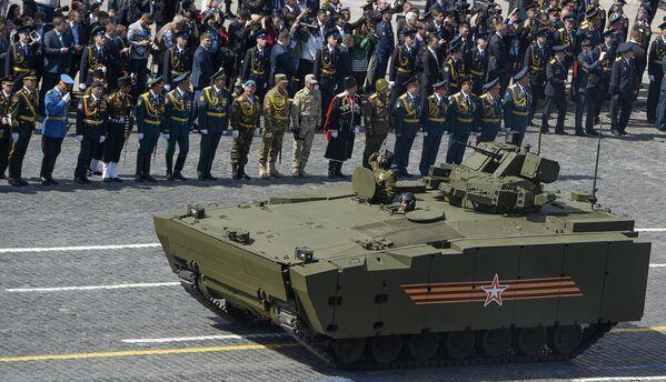 Военный парад в ознаменование 70-летия Победы в Великой Отечественной войне 1941-1945 годов - Sputnik Mundo