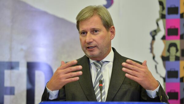 Johannes Hahn, comisario europeo de Ampliación y Política de Vecindad - Sputnik Mundo