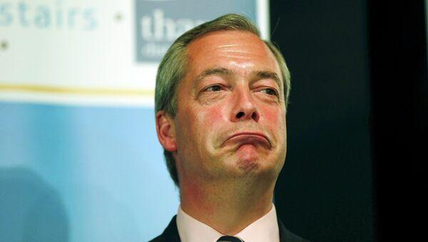 Nigel Farage, leader of the United Kingdom Independence Party (UKIP) - Sputnik Mundo