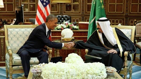 Barack Obama, presidente de EEUU y rey de Arabia Saudí, Salmán bin Abdulaziz - Sputnik Mundo