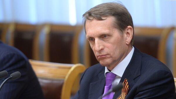 Serguéi Naríshkin, presidente de la Duma de Estado de Rusia - Sputnik Mundo