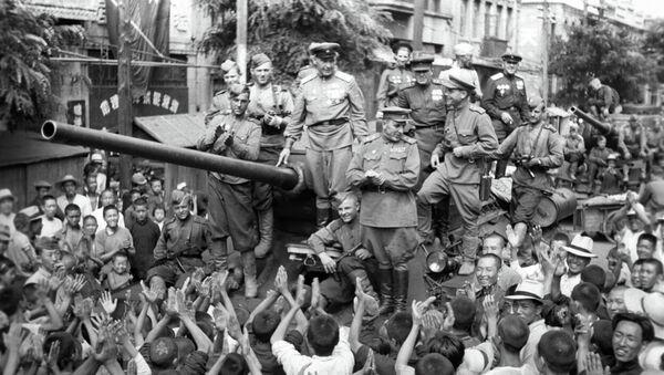 Soldados soviéticos en China - Sputnik Mundo