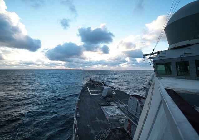 Destructor estadounidense USS Donald Cook en el mar Negro