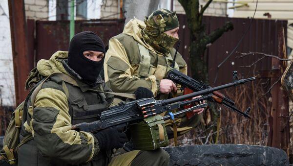 Milicias del este de Ucrania en Donetsk - Sputnik Mundo