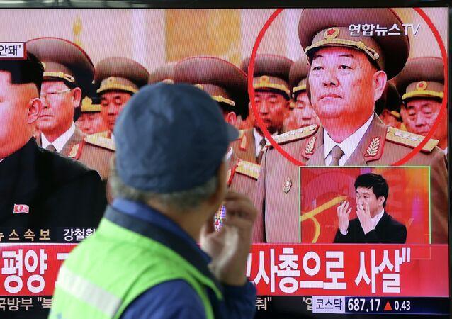Líder de Corea del Norte, Kim Jong-un, y ministro de Defensa, Hyon Yong Chol