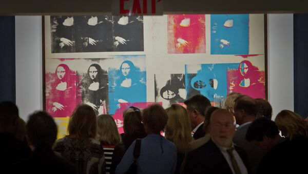 El cuadro de Andy Warhol Mona Lisa Colorada (Colored Mona Lisa) - Sputnik Mundo