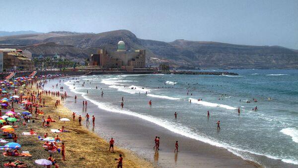 Playa de Las Canteras, Las Palmas de Gran Canaria (archivo) - Sputnik Mundo