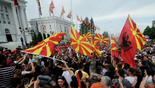 Situación en Skopje - Sputnik Mundo