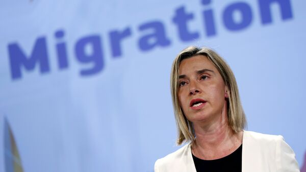 Federica Mogherini, alta representante de la UE para Asuntos Exteriores y Política de Seguridad - Sputnik Mundo