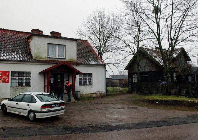 Pueblo Stare Kiejkuty cerca de la base militar que alberga la escuela de CIA de Polonia
