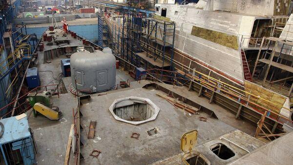 Construcción de la fragata del proyecto 3.9 Gepard en el astillero ruso de Zelenodolsk - Sputnik Mundo