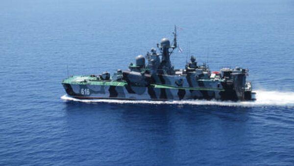 Buque de la Armada de Rusia en el mar Mediterráneo (archivo) - Sputnik Mundo