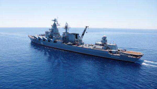 Crucero portamisiles Moskvá (archivo) - Sputnik Mundo