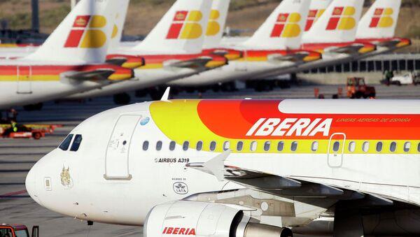 Aviones de la aerolínea española Iberia - Sputnik Mundo