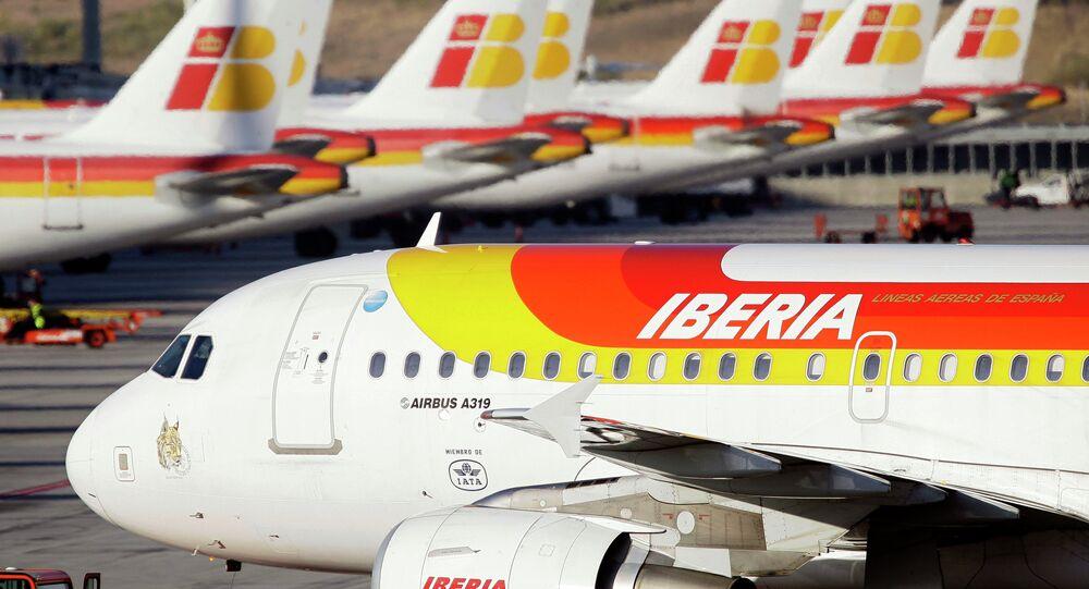 Aviones de la aerolínea española Iberia