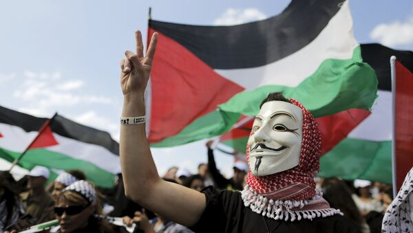 Manifestación de los árabes israelíes por el derecho de volver a sus casas dejadas tras la guerra de 1948 - Sputnik Mundo