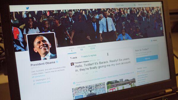 Obama bate un récord mundial con su nueva cuenta de Twitter - Sputnik Mundo