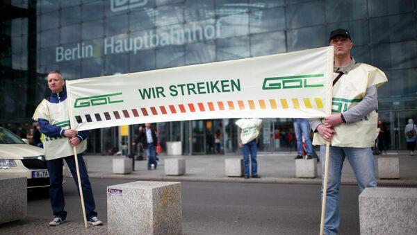 Trabajadores de Deutche Bahn anuncian su huelga - Sputnik Mundo