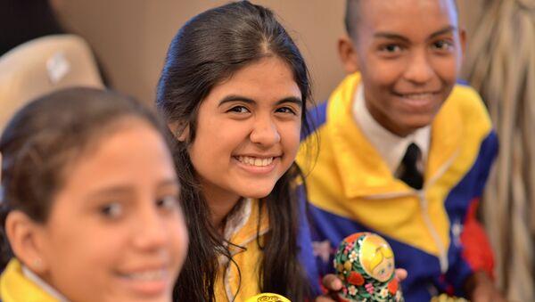 Integrantes del Orquesta Juvenil e Infantil de Venezuela - Sputnik Mundo