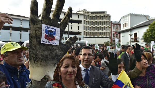 Protestas contra Chevron en Quito - Sputnik Mundo