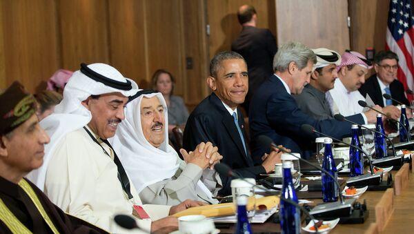 Barack Obama, presidente de EEUU, durante una reunión con los líderes del CCEAG - Sputnik Mundo