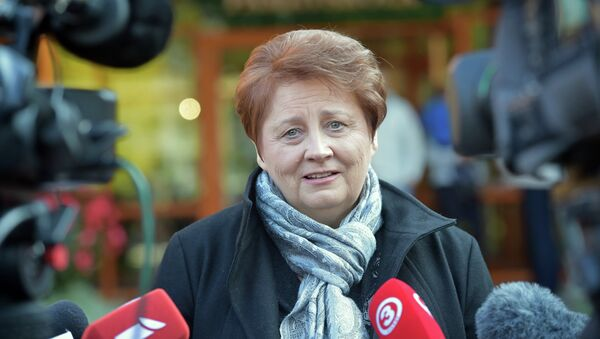 Laimdota Straujuma, primera ministra de Letonia - Sputnik Mundo